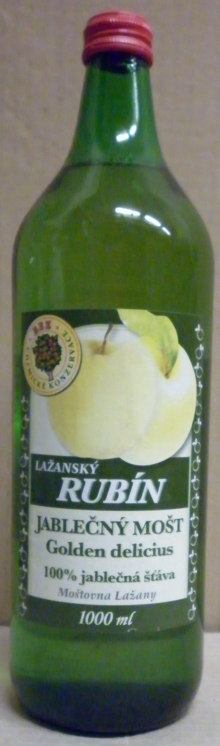 Jablečný mošt GOLDEN DELICIOUS 100% (6 ks)
